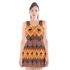 Traditiona  Patterns And African Patterns Scoop Neck Skater Dress