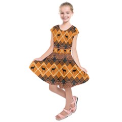 Traditiona  Patterns And African Patterns Kids  Short Sleeve Dress