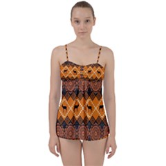 Traditiona  Patterns And African Patterns Babydoll Tankini Set