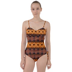 Traditiona  Patterns And African Patterns Sweetheart Tankini Set