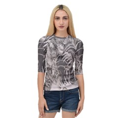 Chinese Dragon Tattoo Quarter Sleeve Tee