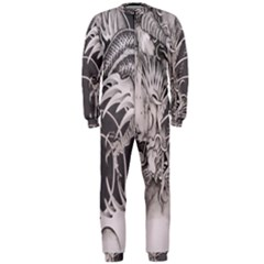 Chinese Dragon Tattoo Onepiece Jumpsuit (men)