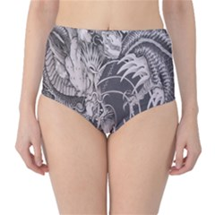 Chinese Dragon Tattoo High Waist Bikini Bottoms