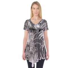 Chinese Dragon Tattoo Short Sleeve Tunic