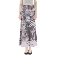 Chinese Dragon Tattoo Full Length Maxi Skirt