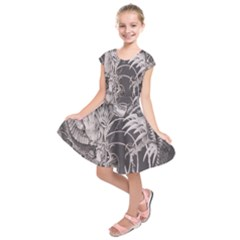 Chinese Dragon Tattoo Kids  Short Sleeve Dress