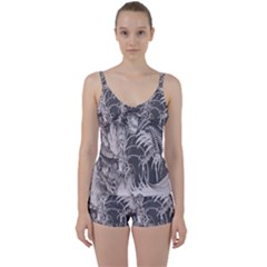 Chinese Dragon Tattoo Tie Front Two Piece Tankini