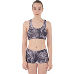Chinese Dragon Tattoo Work It Out Sports Bra Set
