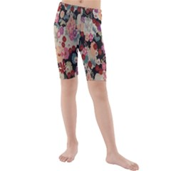 Japanese Ethnic Pattern Kids  Mid Length Swim Shorts