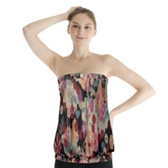 Japanese Ethnic Pattern Strapless Top