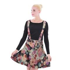 Japanese Ethnic Pattern Suspender Skater Skirt