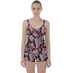 Japanese Ethnic Pattern Tie Front Two Piece Tankini
