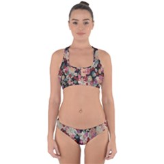 Japanese Ethnic Pattern Cross Back Hipster Bikini Set