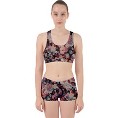 Japanese Ethnic Pattern Work It Out Sports Bra Set