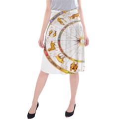 Zodiac  Institute Of Vedic Astrology Midi Beach Skirt