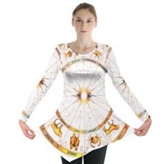 Zodiac  Institute Of Vedic Astrology Long Sleeve Tunic