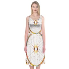 Zodiac  Institute Of Vedic Astrology Midi Sleeveless Dress