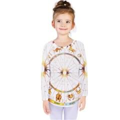 Zodiac  Institute Of Vedic Astrology Kids  Long Sleeve Tee