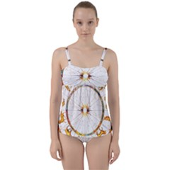 Zodiac  Institute Of Vedic Astrology Twist Front Tankini Set