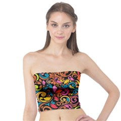 Art Traditional Pattern Tube Top