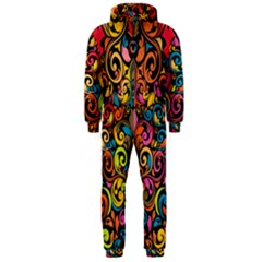 Art Traditional Pattern Hooded Jumpsuit (men)