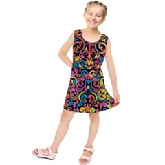 Art Traditional Pattern Kids  Tunic Dress