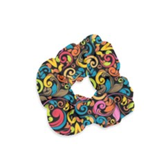 Art Traditional Pattern Velvet Scrunchie