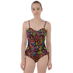 Art Traditional Pattern Sweetheart Tankini Set