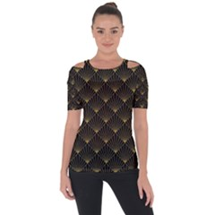 Abstract Stripes Pattern Short Sleeve Top