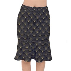 Abstract Stripes Pattern Mermaid Skirt