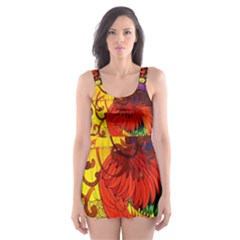 Chinese Zodiac Signs Skater Dress Swimsuit