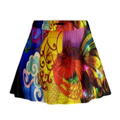 Chinese Zodiac Signs Mini Flare Skirt