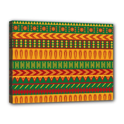 Mexican Pattern Canvas 16  X 12