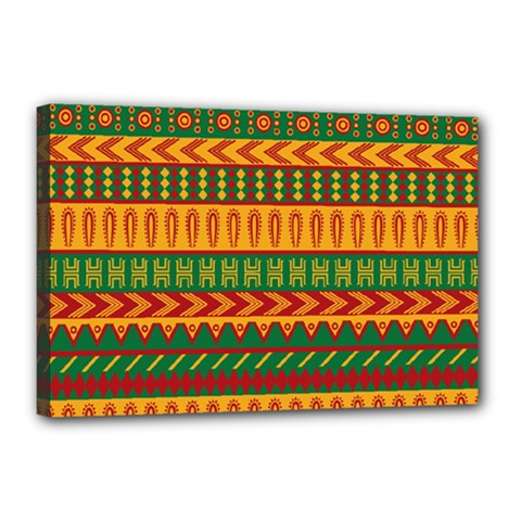 Mexican Pattern Canvas 18  X 12
