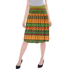Mexican Pattern Midi Beach Skirt