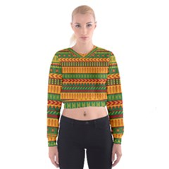 Mexican Pattern Cropped Sweatshirt