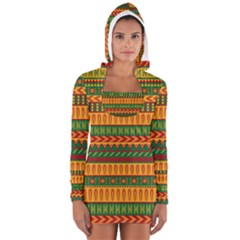 Mexican Pattern Long Sleeve Hooded T Shirt