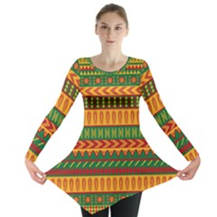 Mexican Pattern Long Sleeve Tunic