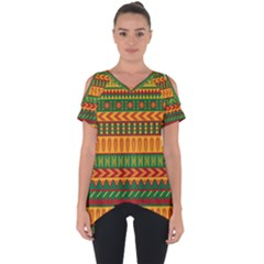 Mexican Pattern Cut Out Side Drop Tee