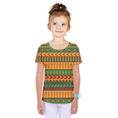 Mexican Pattern Kids  One Piece Tee