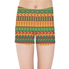 Mexican Pattern Kids Sports Shorts