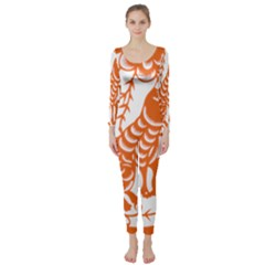 Chinese Zodiac Dog Long Sleeve Catsuit