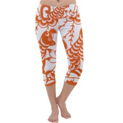 Chinese Zodiac Dog Capri Yoga Leggings