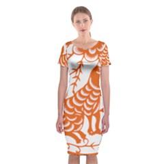 Chinese Zodiac Dog Classic Short Sleeve Midi Dress