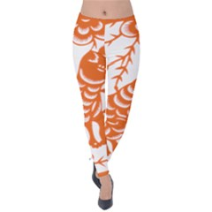Chinese Zodiac Dog Velvet Leggings