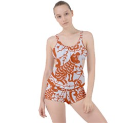 Chinese Zodiac Dog Boyleg Tankini Set
