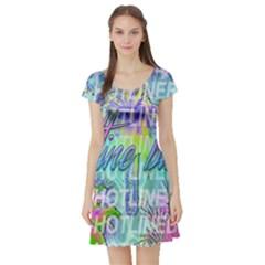 Drake 1 800 Hotline Bling Short Sleeve Skater Dress