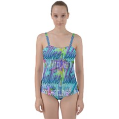 Drake 1 800 Hotline Bling Twist Front Tankini Set