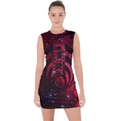 Bassnectar Galaxy Nebula Lace Up Front Bodycon Dress