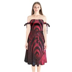 Bassnectar Galaxy Nebula Shoulder Tie Bardot Midi Dress